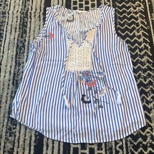 Stripe and Flower Top